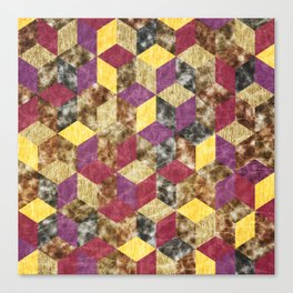 Colorful Isometric Cubes VII Canvas Print