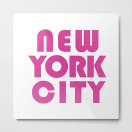 New York City in Pink Metal Print