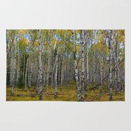 Trembling Aspen's in the Fall, Jasper National Park Rug