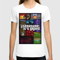 grand theft auto T-shirts featuring Grand Theft Literature by Mitul Mistry