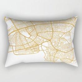 ANTALYA TURKEY CITY STREET MAP ART Rectangular Pillow