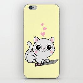 Kitty Hearts Kill - Cats Love Plotting iPhone Skin