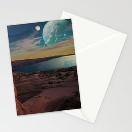 Space Desert Stationery Cards