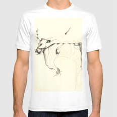 Bull MEDIUM Mens Fitted Tee White