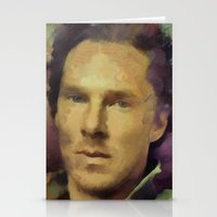 cumberbatch Stationery Cards featuring benedict cumberbatch by janice maclellan