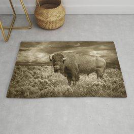 American Buffalo in Sepia Tone Rug