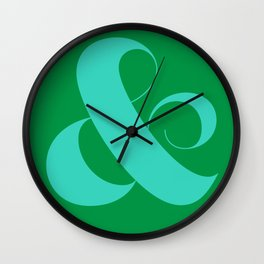 Regal Ampersand Wall Clock