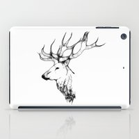 stag iPad Cases featuring stag by oslacrimale