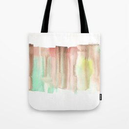 [161228] 24. Abstract Watercolour Color Study|Watercolor Brush Stroke Tote Bag