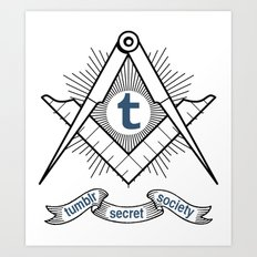 Tumblr Secret Society Art Print