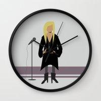 stevie nicks Wall Clocks featuring Stevie Nicks by Sarah Duet