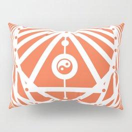 Radiant Abundance (orange-white) Pillow Sham