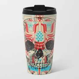 Skull Native Metal Travel Mug