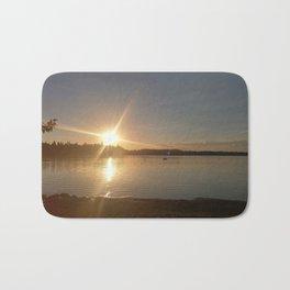 Crimson Lake Sunset Bath Mat
