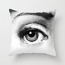 Lina Cavalieri Eye 01 Throw Pillow