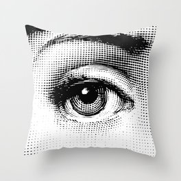 Lina Cavalieri - right eye Throw Pillow