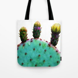 Three Cactus Flowers Tote Bag