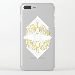 Polillas - Gold Clear iPhone Case