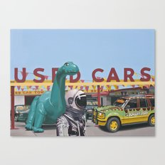 Jurassic Parking Lot Canvas Print