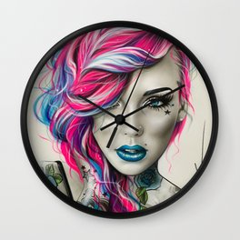 'Inked Neon' Wall Clock