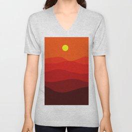 Abstract landscape II Unisex V-Neck