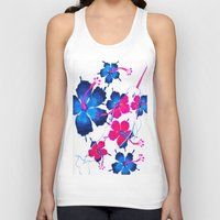 hawaiian Tank Tops featuring Hawaiian Narwhal  by PastelxPalette