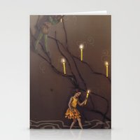 peter pan Stationery Cards featuring peter pan by Emily Tumen