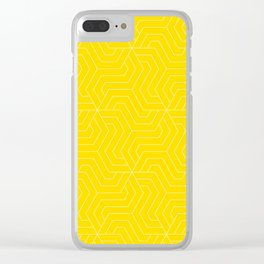 Sizzling Sunrise - yellow - Modern Vector Seamless Pattern Clear iPhone Case