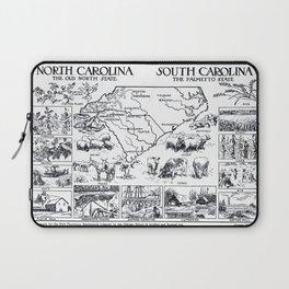 Vintage Map of The Carolinas (1912) Laptop Sleeve