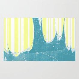 water&yellow stripe Rug