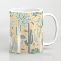 guns Mugs featuring Succulent Guns by lapenche