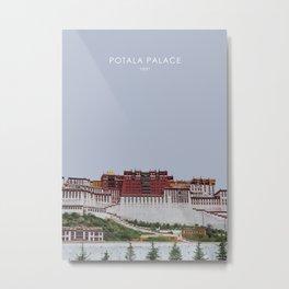 Potala Palace, Tibet Travel Artwork Metal Print