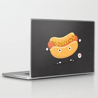 hot dog Laptop & iPad Skins featuring Hot Dog by Céline Dscps