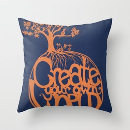 Create Your Own World Throw Pillow