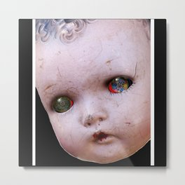 Red-Eyed Mentalembellisher Halloween Doll Metal Print