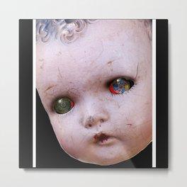 Red-Eyed Mentalembellisher Halloween Doll Metal Print