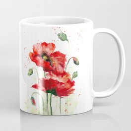 Watercolor flowers of aquarelle poppies Coffee Mug