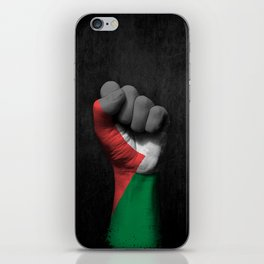 Palestinian Flag on a Raised Clenched Fist iPhone Skin