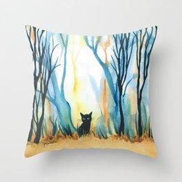 Calabria Whimsical Cat Throw Pillow