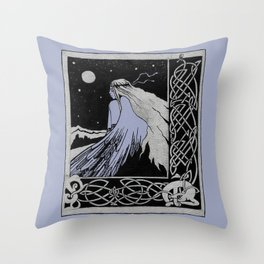 girl-bird Celticum Throw Pillow