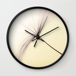 Whispered Wishes on a Dandelion Seed Wall Clock