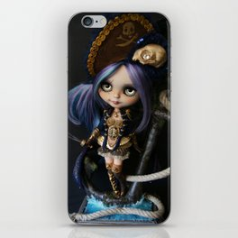 LADY BUCCANEER PIRATE OOAK BLYTHE ART DOLL iPhone Skin