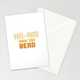 Ha-Ha Made You Read - Funny Prank Stationery Cards
