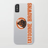 nfl iPhone & iPod Cases featuring Tattooine Browns - NFL by Steven Klock