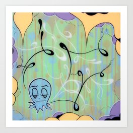 Demetri The Curious Octopi Art Print