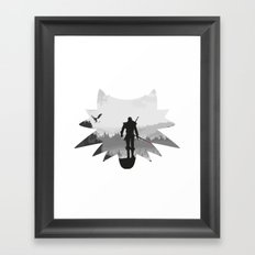 The white wolf Framed Art Print