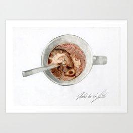 Breakfast mug Art Print