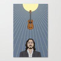 eddie vedder Canvas Prints featuring Eddie Vedder by olive industries