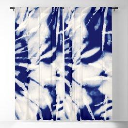 vivid blue tie dye Blackout Curtain