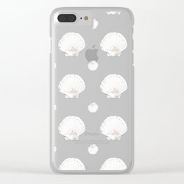 Scallop Shell Pattern Clear iPhone Case